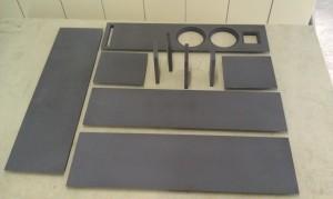Doppel 7 Bausatz Vollgehrung MDF-schwarz